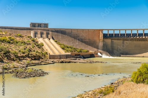 Fotografering Gariep dam during a drought in the Free state province of South Africa