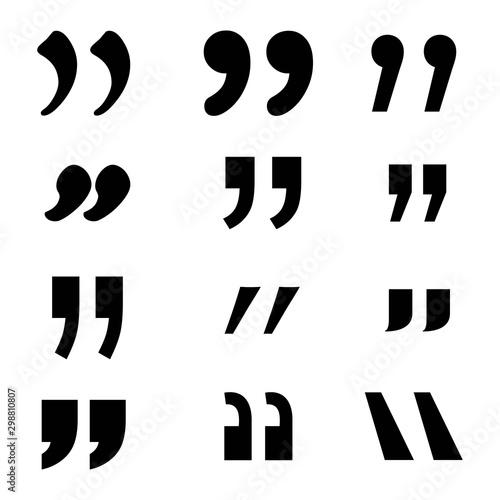 Fototapeta icon Set of quotation marks
