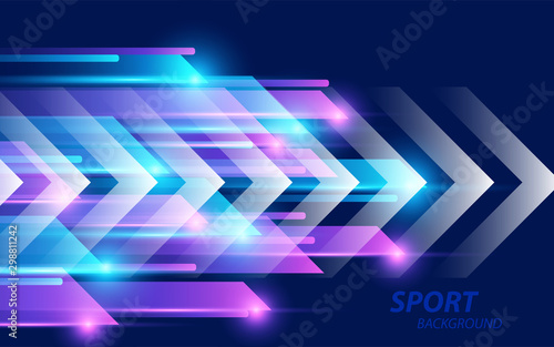 Trendy gradient colors background with light shine element. Minimal concept vector design for use wallpaper, theme, presentation, website, cover, banner