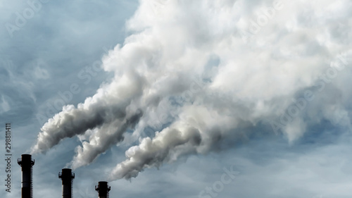 Toxic emissions of toxic gases into the atmosphere, industrial air pollution Wallpaper Mural