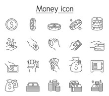 Money, Cash, Coin, Currency Ic...