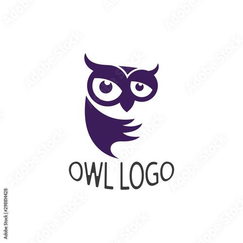Poster Owls cartoon Owl bird illustration logo template vector icon