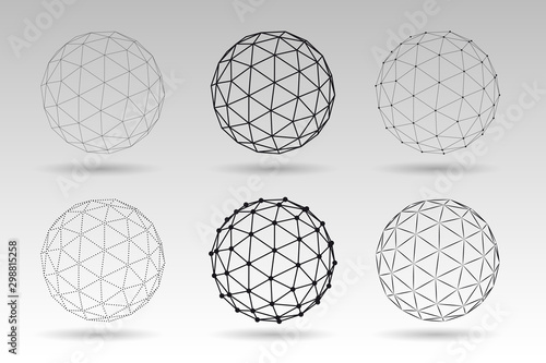 Fotografía Set of vector globes