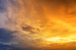 canvas print picture - Beautiful sky with cloud sunset