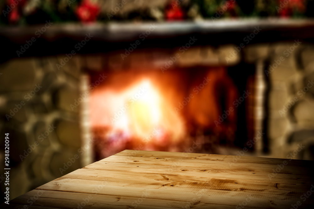 Fototapety, obrazy: Table background and frieplace