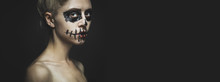Portrait Of Woman With Hallowe...