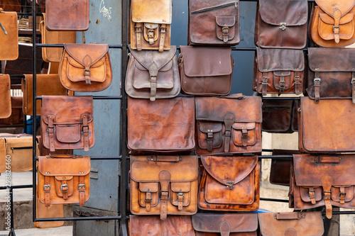 Foto op Canvas Kameel Camel Leather Satchels