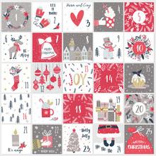 Christmas Advent  Calendar. Co...