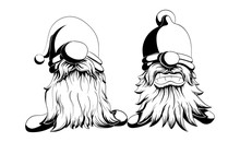 Two Funny Vector And Bearded G...
