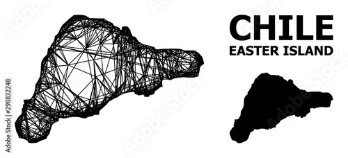 Cuadros en Lienzo Network Map of Easter Island