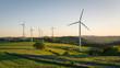 Leinwandbild Motiv windkraftanlagen auf dem feld
