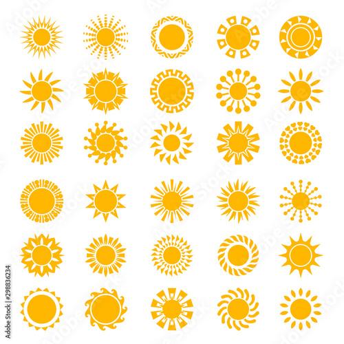 Sun icons Canvas