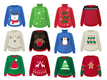 Christmas Sweaters. Funny Ugly...