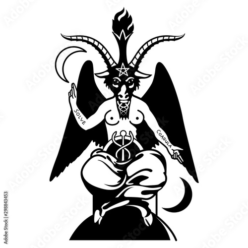 Photo Baphomet black goat
