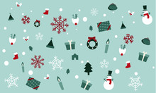 Christmas Seamless Pattern With Snowman And Gifts 2