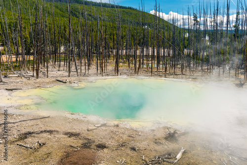 Geothermal pool in Yellowstone national park