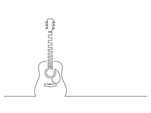 Acoustic Guitar Isolated Line ...