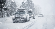 Winter Road In Beatiful Forest...