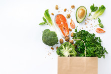 Shopping Bag With Healthy Food...