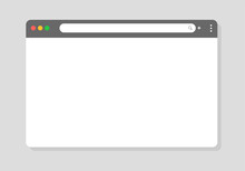 Browser Window. Vector Browser...