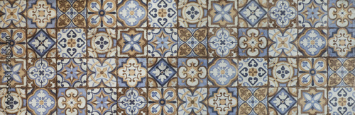 Fotomural abstract ceramic mosaic tile pattern for the kitchen