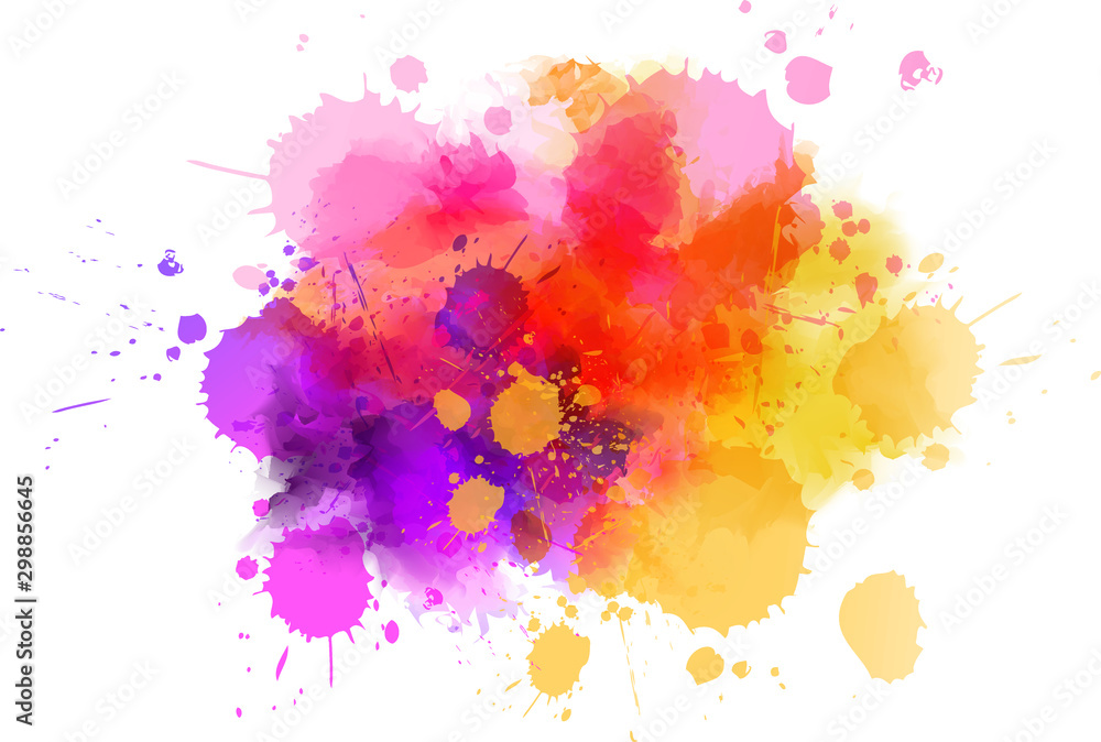 Fototapety, obrazy: Multicolored splash watercolor blot