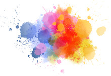 Multicolored Splash Watercolor...