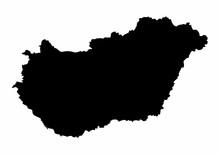 Hungary Silhouette Map