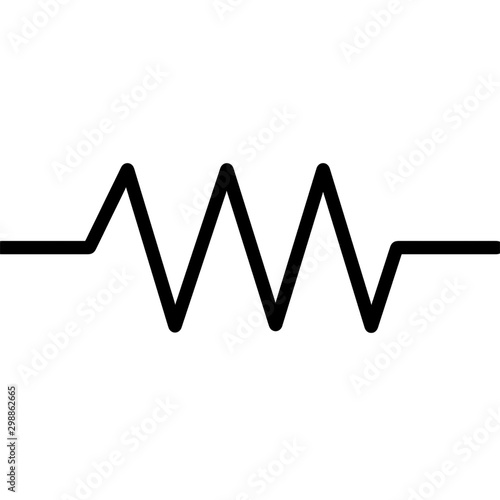 Photo Resistor Bold Symbol For Circuit Design