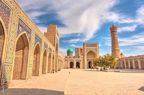 Autocollant pour porte Con. Antique Kalan Mosque, Bukhara