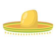 Traditional Mexican Hat Isolated Icon