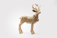 Gold Red Deer, Reindeer, Chris...