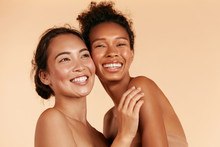 Beauty. Smiling Women With Per...
