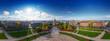360° aerial panorama city of mannheim germany