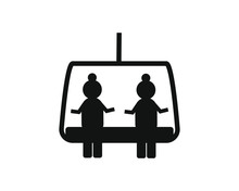 Cable Car Simple Icon Vector