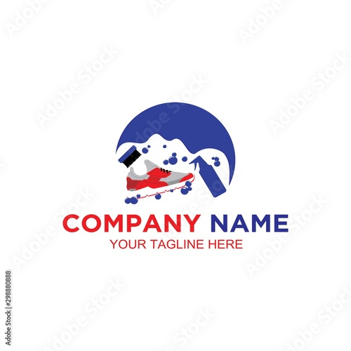 Fototapeta Shoes Wash Logo obraz na płótnie