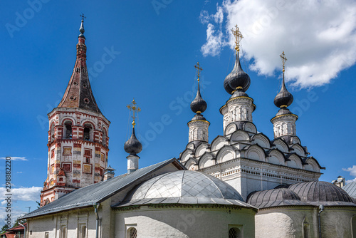 Photo Russia, Vladimir Oblast, Golden Ring, Suzdal: Dome and bell tower of the old famous Winter church of St