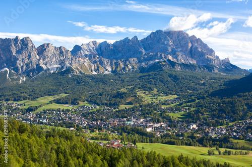 Cortina D'Ampezzo, Dolomite, Alps, Veneto, Italy, Europe Tableau sur Toile