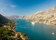 Aerial View Of Kotor Bay, Montenegro