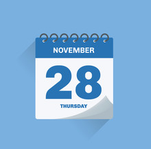 Day Calendar With Date November 28.
