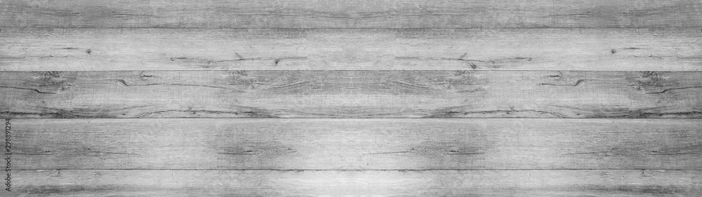 Fototapety, obrazy: old bight light white grey  rustic wooden texture - wood background panorama banner long