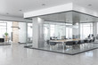 Leinwandbild Motiv Contemporary concrete office interior