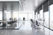 Clean concrete office interior