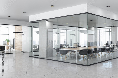Obraz Contemporary concrete office interior - fototapety do salonu