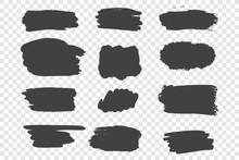 Black Ink Strokes Vector Illus...