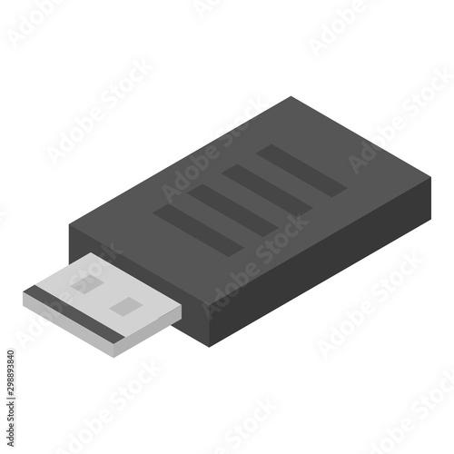 Usb adapter icon Fototapet