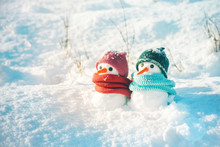 Two Small Snowmen The Girl And...