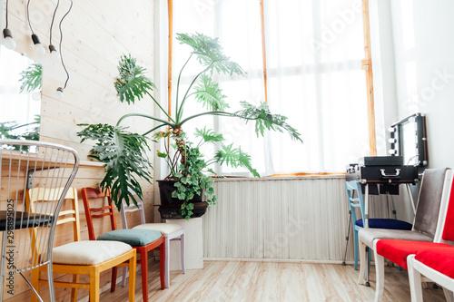 Valokuva  dressing room for the work of a hairdresser's make-up artist