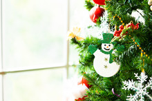 Close Up Snowman Toy Hanging O...