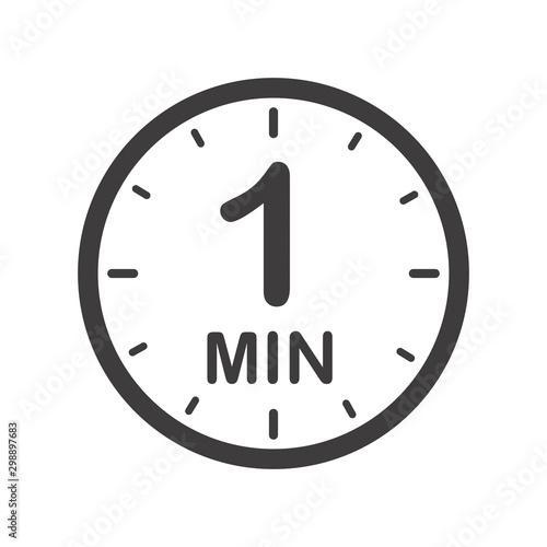 Cuadros en Lienzo  One minute icon